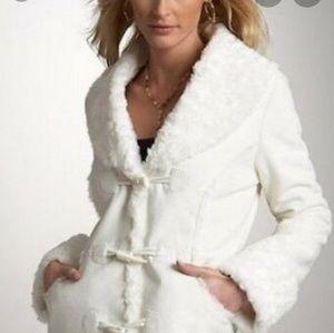 ⭐Host Pick⭐ WHBM White Fur Suede Coat